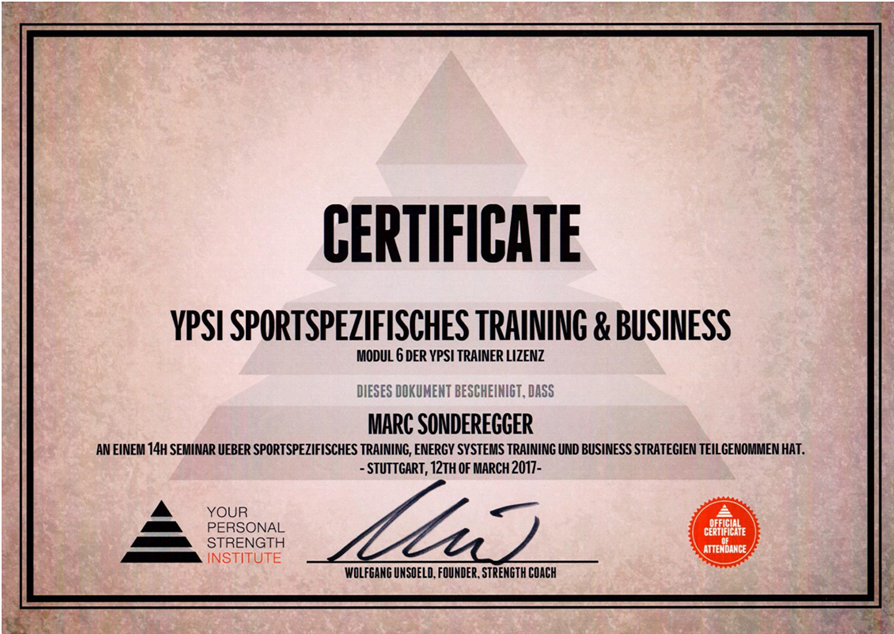YPSI_Sportspezifisches_Training